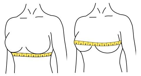 sütyen bedeni hesaplamak için ölçü alma yöntemi